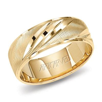Yellow Gold Wedding Band by 14k Yellow Gold Artcarved Shower Of Gold Wedding Band