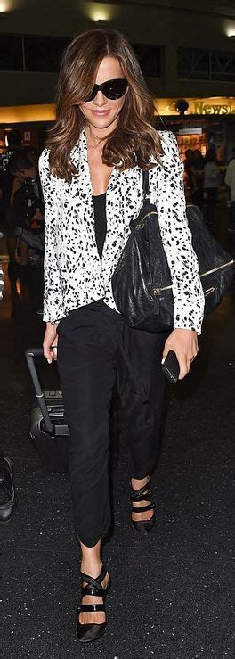 Kate Beckinsdale With Valentino Historie Purse by Kate Beckinsale Black Leather Handbags And Leather