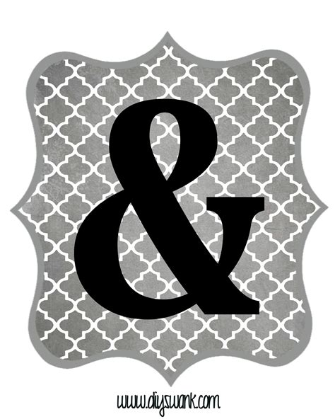 printable grey letters free printable letters gray and black diy swank