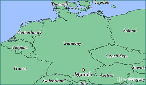 locate germany on world map where is munich germany where is munich germany