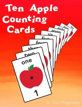 Apple 10 Gift Card - apple counting cards 1 10 free by star magnolias tpt