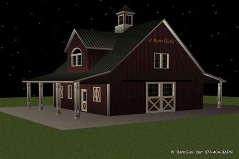 Barn Garage Apartment Plans by Barn Plans With Living Quarters 4 Stalls 2 Bedrooms