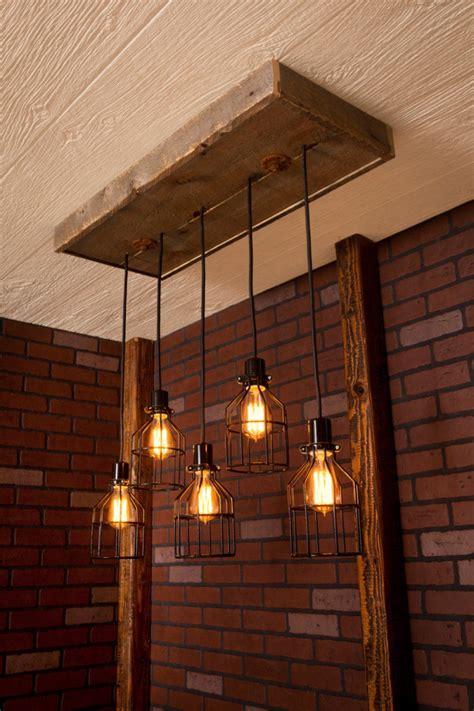 Reclaimed Wood Industrial Chandelier Id Lights Reclaimed Chandeliers