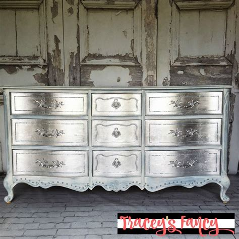 Silver Painted Furniture by 78 Best Ideas About Antique Dresser Redo On