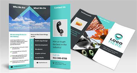 template brosur photoshop gratis 21 template desain brosur format psd eps dan corel gratis