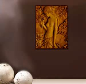 thai princess thai carved wood wall panel