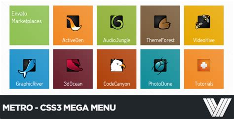 creating complete css3 html5 website layout best top 10 premium css3 and html5 mega menus designmodo