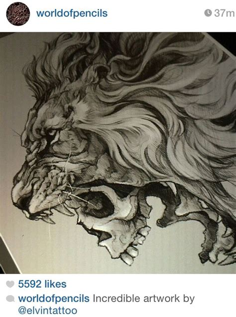 lion skull tattoo skull this would make a bad cool ink
