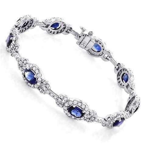 Blue Sapphire Bracelet blue sapphire bracelet 8 98ct 18k gold