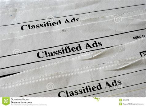 classified ads stock photography image 4258572