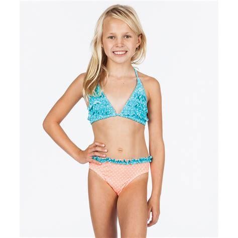preteen swimwear dot triangle girls swimwear set billabong us