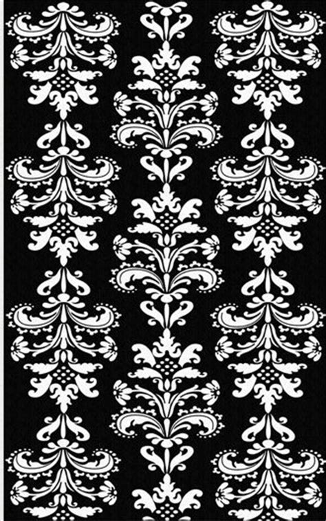 Damask Area Rug Black And White black and white mini damask area rug the frog and the