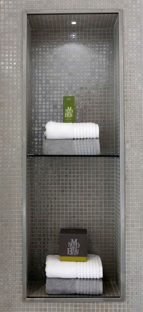 bathroom alcove shelves alcove mosaics and glass shelves on pinterest