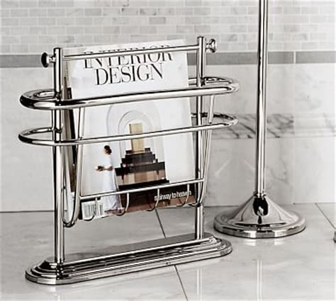 magazine holder bathroom bathroom magazine rack brushed nickel woodworking