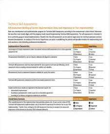 It Skills Assessment Template by Skills Assessment Template 9 Free Word Pdf Document