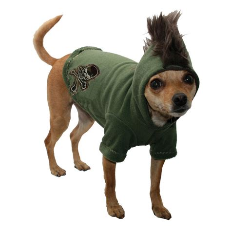 Black Skull Pet Hoodie Clothing Coat Small Puppy Cat Sweater Shirt camo skull mohawk hoodie clothes at