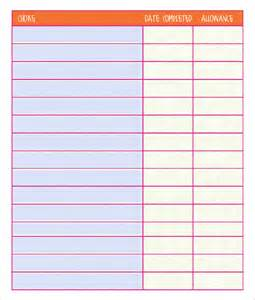 Chart Template chore chart template 6 free pdf word documents