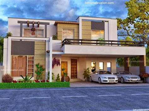 3d front elevation beautiful house modern design