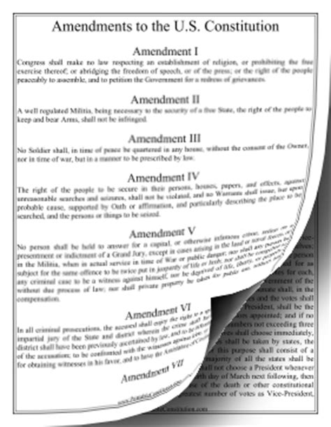 printable us constitution and amendments amendments to constitution large print founding document