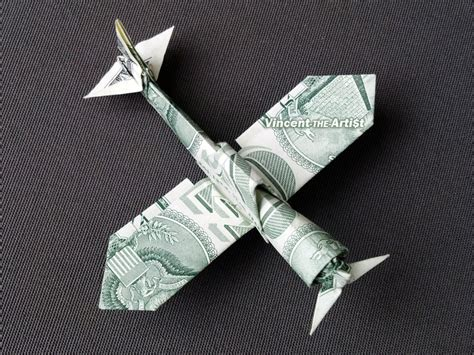 Dollar Bill Origami Plane - click picture to enlarge