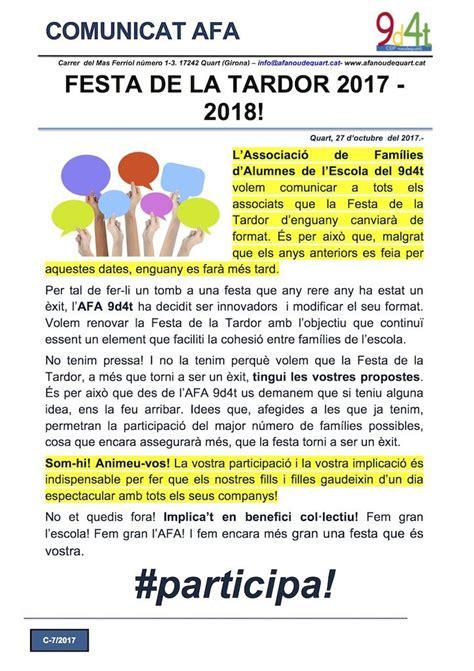 reclassement de la cat c en 2017 festa de la tardor 2017 2018 afa nou de quart