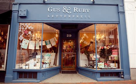Our brick & mortar storefront   Gus and Ruby Letterpress