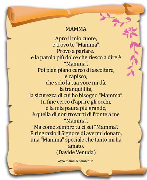 cornici per poesie poesie sulla mamma con cornicette da stare mamma e