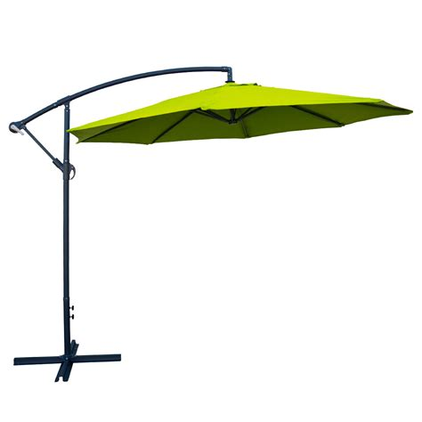 Lime Green Patio Umbrella 10 Offset Lime Green Umbrella Patio Crank Up Tilt Cantilever Shade Stand Ebay