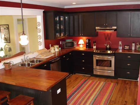 red kitchen walls with oak cabinets red kitchens myhousespot com