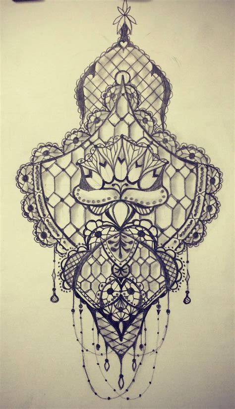 tattoo drawing 74 delicate lace designs mens craze