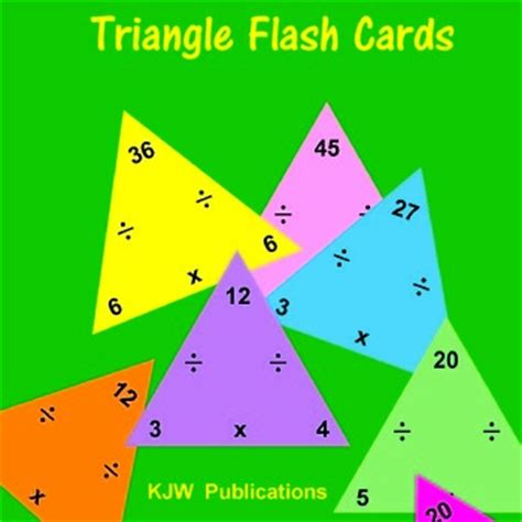 triangle multiplication flash card template best 25 multiplication flash cards ideas on