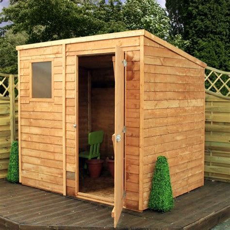 Wooden Shed by Mercia 7 X 5 Overlap Pent Wooden Garden Shed Garden