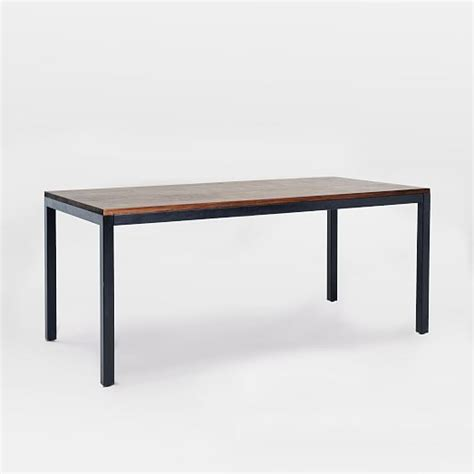 Dining Table Metal Metal Wood Dining Table West Elm