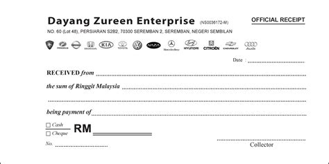 Official Receipt Template by Sle Of Receipt Cake Ideas And Designs
