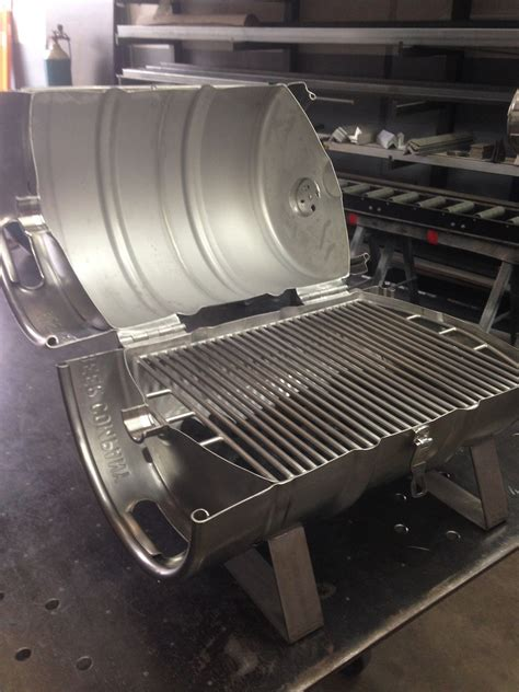 smoker grill edelstahl the finished stainless steel keg grille tags keg