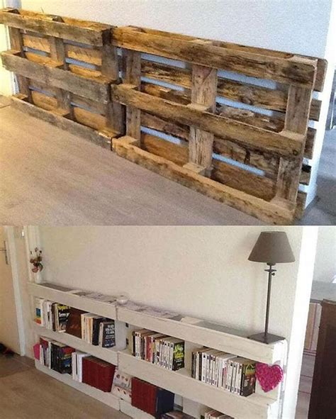 do it yourself bookshelves made with pallets how cool