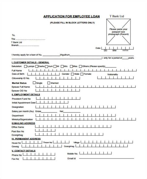 Loan Repayment Letter To Employee Loan Agreement Form Exle 65 Free Documents In Word Pdf