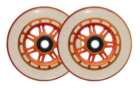 Set Of 2 Razor set of 2 replacement scooter wheels for razor orange ebay
