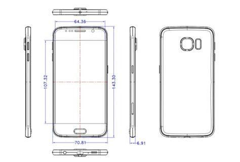 Samsung S6 Gsmarena samsung galaxy s6 schematics show a protruding