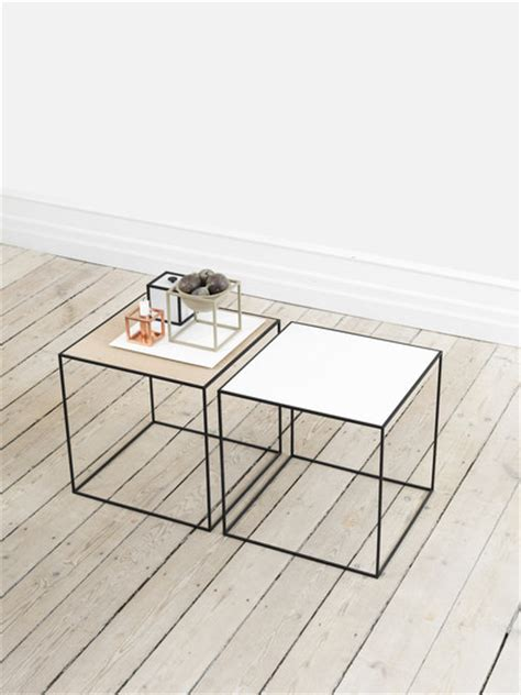 two simple tables for coffee table swedish design twin table side tables from by lassen architonic