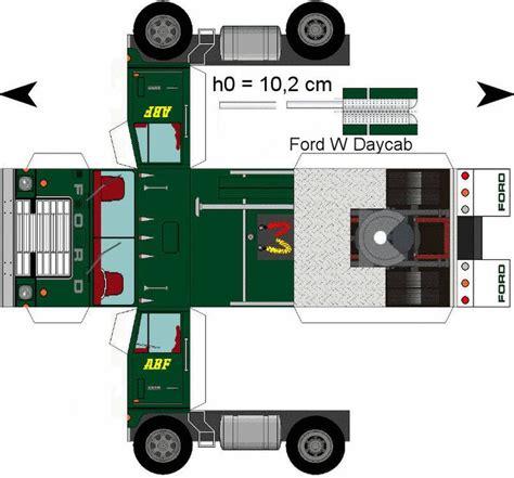 Papercraft Truck - lorry papercraft amerikanische truck kombinationen im