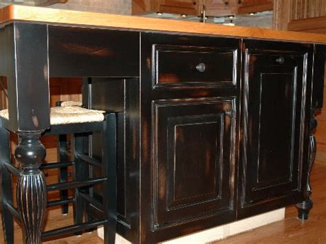 black distressed cabinets for the home
