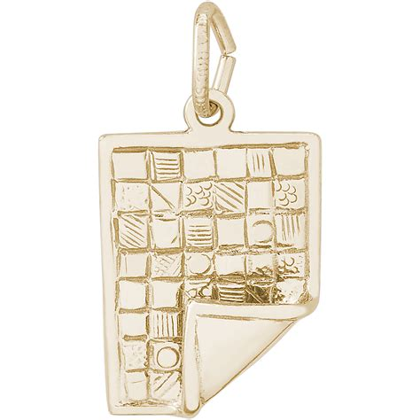 quilt charm gold plated 10 2340