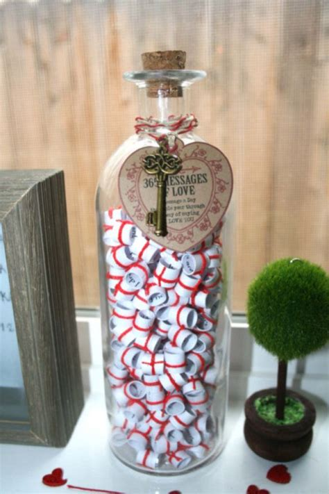 message in a bottle valentines gift valentines day 365 messages of handmade gifts of
