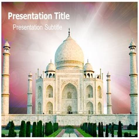 Amazon Com Taj Mahal Powerpoint Template Taj Mahal Ppt On Taj Mahal