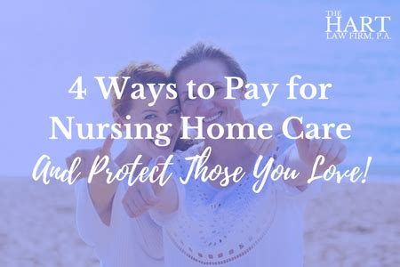 4 ways to pay for nursing home care in carolina