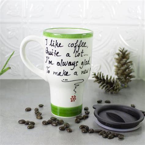 ceramic coffee travel mug handle by blueroompottery on etsy ceramic coffee travel mug with handle amethyst purple