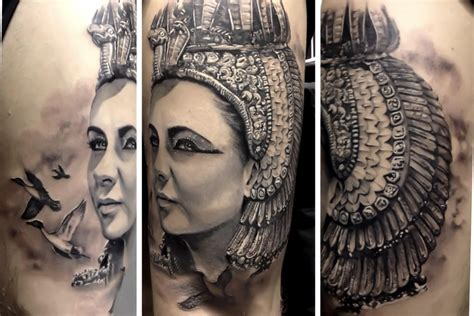 elizabeth tattoo designs elizabeth as cleopatra tattooed by matteo pasqualin