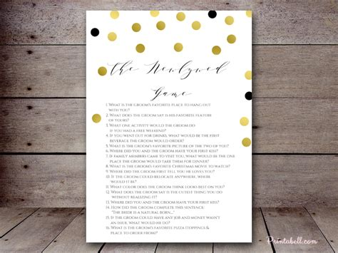 Newlywed For Bridal Shower by The Newlywed Printabell Create