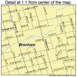 map of brenham brenham map 4810156